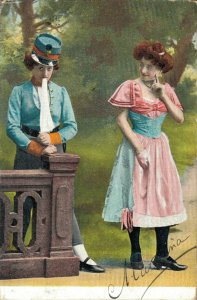 Victorian Style Woman Fantasy Postcard Lot of 8    01.18