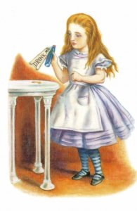 Drink Me Poison Bottle Alice In Wonderland 1911 Book Postcard