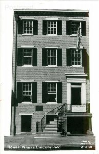 DC, Washington, District of Columbia, House Where Lincoln Died, Pete Costas,RPPC