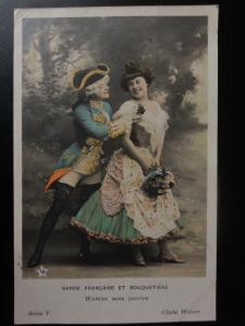 French Romance Garde Francaise et Bouquetiere No.V HISTOIRE SANS PAROLES c1902