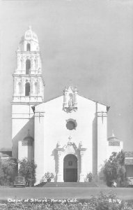 RPPC CHAPEL OF ST. MARY'S Moraga, CA Contra Costa c1940s Vintage Photo Postcard