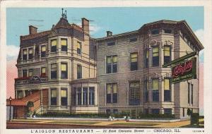 Illinois Chicago L'aiglon Restaurant 1944