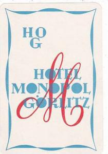 GERMANYGOERLITZ HOTEL MONOPOL VINTAGE LUGGAGE LABEL