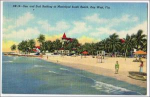 Sun & Surf Bathing, South Beach, Key West Fl