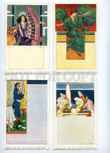 189344 CIRCUS ML LENZ Set 10 cards ART NOUVEAU PHILIPP KRAMER
