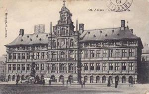 Belgium Anvers L'Hotel de Ville 1909