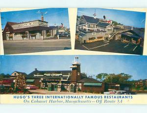 Unused Pre-1980 OLD CARS & 3 HUGO RESTAURANT LOCATIONS Cohasset Harbor MA v6780