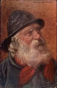 Gerstenhauer Old Dutch Men Face Characteristic Studies Salty Fishermen PC #2