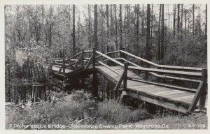 RP, Picturesque Bridge, Okefenokee Swamp Park, WAYCROSS, Georgia, 20-40s