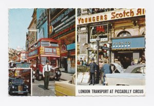 1965 London Transport Piccadilly Circus Postcard Posted