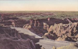 Down From The Pinnacles The Badlands Nat Monument South Dakota Hand Colored A...
