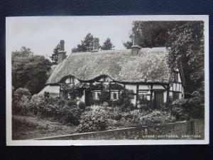 Staffordshire ARMITAGE Lodge Cottages c1930's RP Postcard by Morecroft P.O.