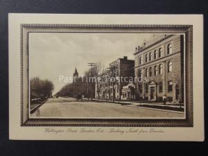Canada LONDON Ontario WELLINGTON STREET Looking North from Dundas - Old Tucks PC