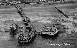 Netherlands Scheveningse Pier aerial view, echte photo