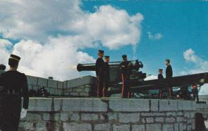 Old Fort Henry, Garrison Artillery Salute No. 2 Gun Fire, Kingston, Ontario...
