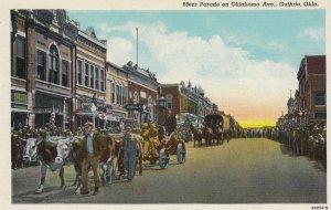 GUTHRIE , Oklahoma , 1930-40s ; 89ners parade , Oklahoma Avenue