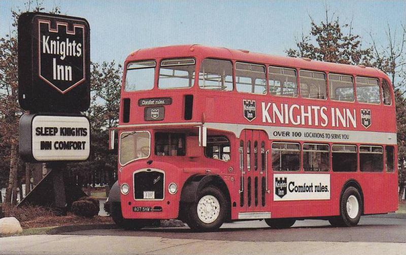 The Knights Inn, 1963 Bristol double-decker bus,  Reynoldsburg,  Ohio,  40-60s