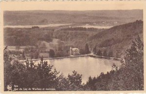 Belgium Spa Vue du lac de Warfaaz et environs