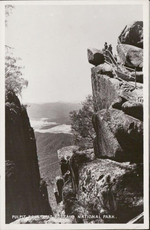 Pulpit Rock Mount Buffalo National Park Australia real photo