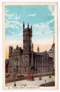 RARE 1915-30 Masonic Temple Broad & Filbert Streets Free Masons Philadelphia PA