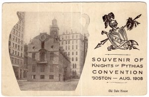 Souvenir of Knights of Pythias Convention Boston, Aug. 1908, Old State House