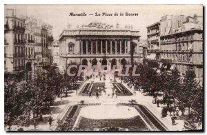 Postcard Old Marseille Place de la Bourse