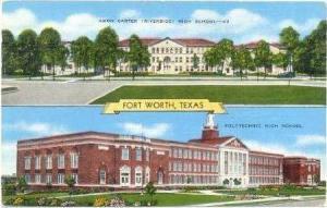 Amon Carter (Riverside) & Polytechnic High Schools, FORT WORTH, Texas,  30-40s
