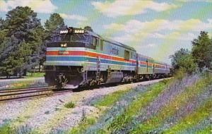 Train Amtrak Southbound Panama Limited At Terry Mississippi 4 April 1977
