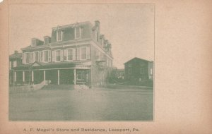 LEESPORT, Pennsylvania, 1900-1910's; A.F. Mogel's Store And Residence