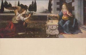 Leonardo Annunziazione Galleria Uffizi Firenze