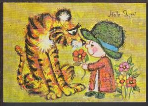 Hello Tiger Postcard BIN