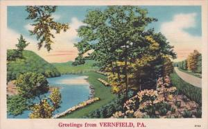 Pennsylvania Vernfield Greetings From Vernfiled