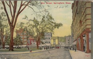 SPRINGFIELD, Massachusetts, PU-1910; Elm Street