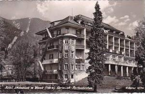 Germany Garmisch Partenkirchen Hotel Schoenblick mit Wank Real Photo