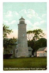 NY - Lake Champlain. Cumberland Head Lighthouse