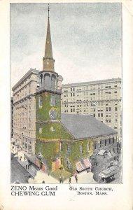 Advertising Post Card Zeno Chewing Gum Boston, MA, USA Unused