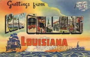 New Orleans, Louisiana Large Letter Town Towns Post Cards Postcards  New Orle...