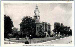 LAVERNE, Alabama  AL    CRENSHAW COUNTY COURT HOUSE   Postcard