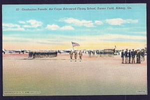 Graduation Parade Turner Field Albany GA unused c1940's