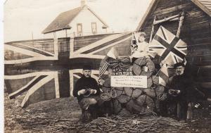 RP: MOOSE JAW , Sask. , Canada , 1910; 2 men making Shell Box Handles
