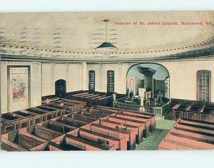 Divided-Back CHURCH SCENE Richmond Virginia VA L6067