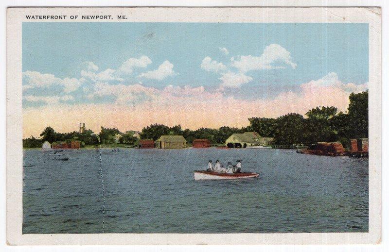 Waterfront Of Newport, Me.