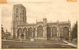 Yeovil UK~St John's Church 1940 B&W