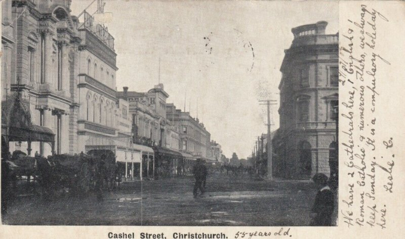 CHRISTCHURCH ,  New Zealand ,1905 ; Cashel Street