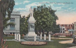 LONG BEACH , California, 1900-1910's; Pacific Park, Lincoln's Monument