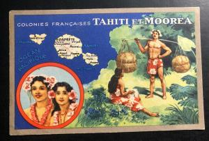 Mint Picture Postcard French Colonies Tahiti & Moorea Pacific Ocean Island