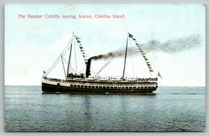 Avalon Catalina Island CA~Steamer Cabrillo~The Ship We Came to & From On~1907