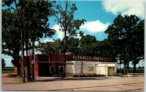 Sycamore, Illinois Postcard KENDALL'S RANCH Street View Highway 64 c1960s Unused