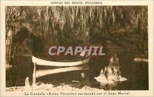 Postcard Old Drach Mallorca The gondola Reina Victoria navegando por el Lago ...