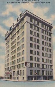 New York Rochester The Richford Hotel Elm Street At Chestnut Curteich